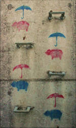 Pigs and Umbrellas by Dynamanitee