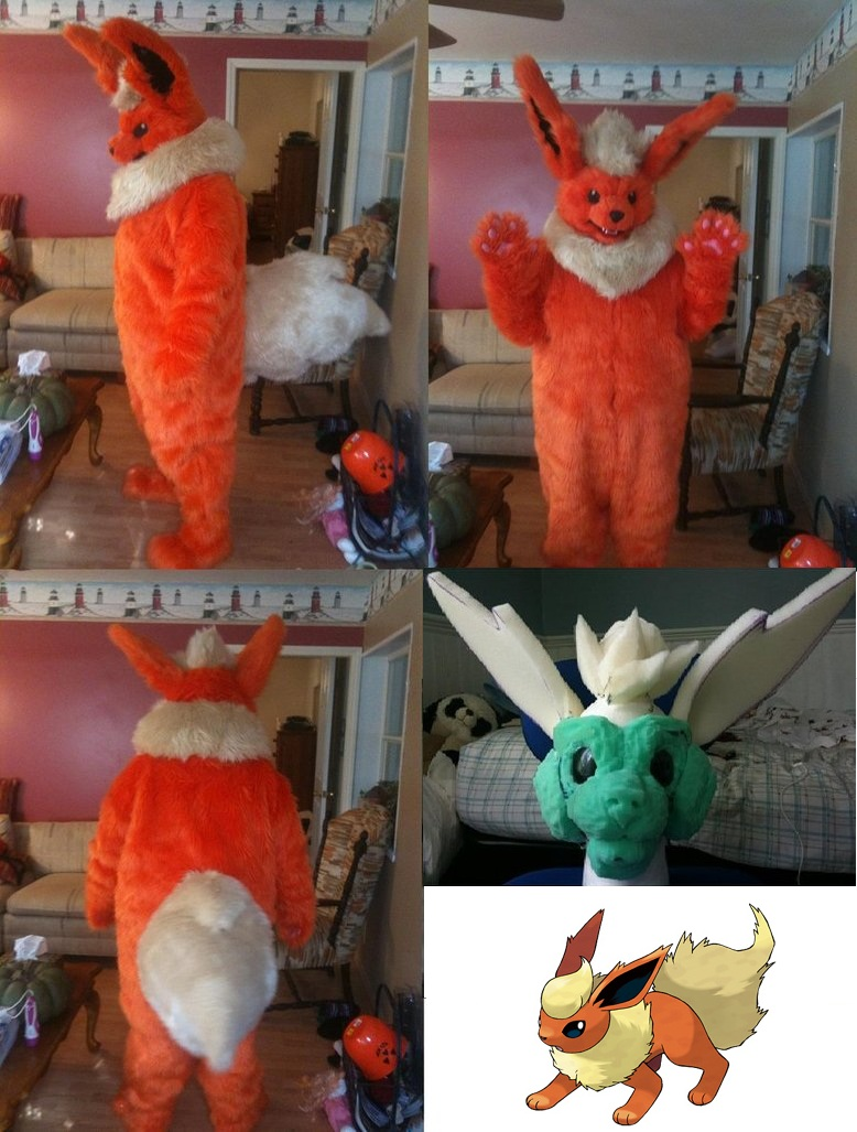 Flareon Fursuit Completed! :D by Requiem-Owl