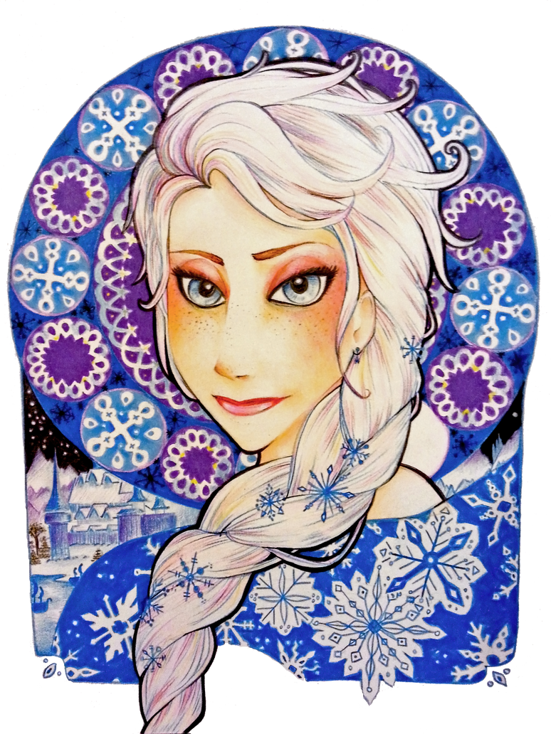 Elsa (Nouveau Portrait) by TheSimplyLovely