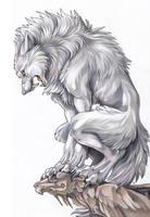 White Werewolf by Exileden