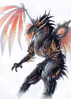Volcanic Dragon by Exileden