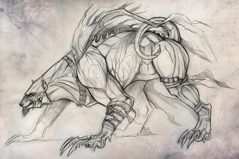 best picture, beast, anime, beast sketch picture