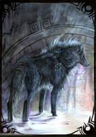 Greenlandic Wolf by Exileden
