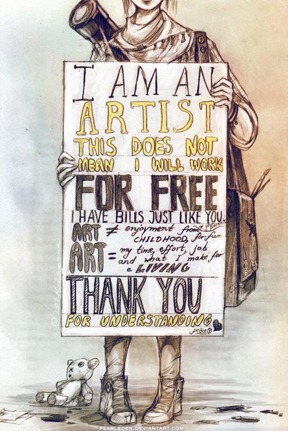 I don't do ART for free