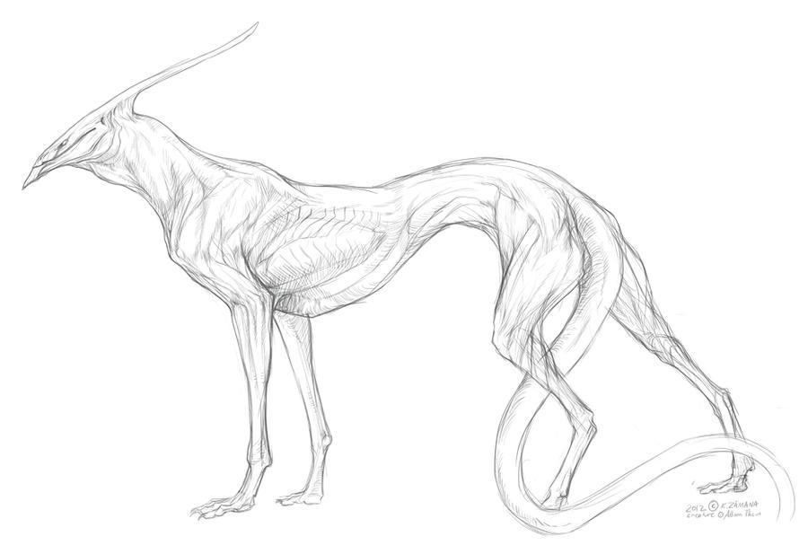 Lock creature sketch by Exileden