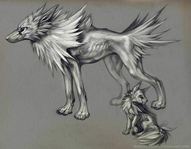 Jolteon and Eevee by Exileden