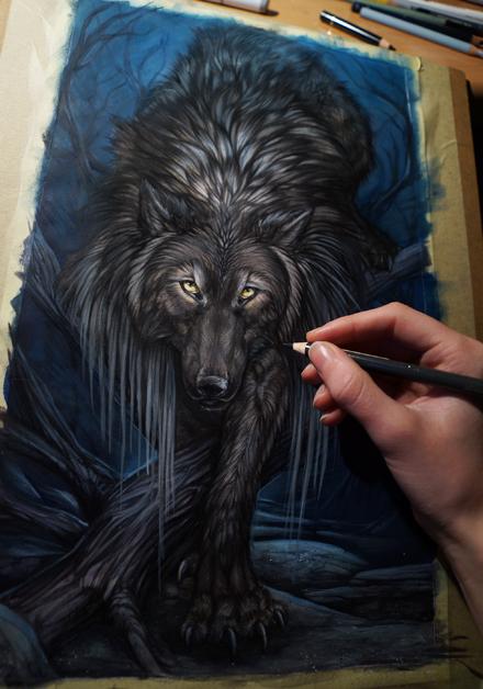 WIP werewolf by Exileden