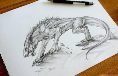Dragon Feline Commission