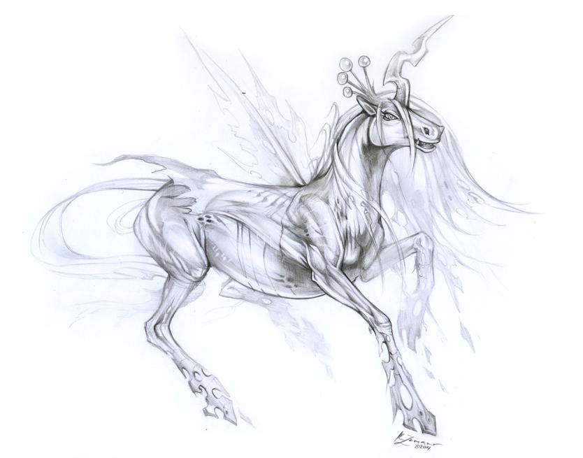Queen Chrysalis by Exileden