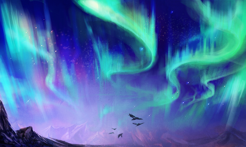 Northern Lights Speedpainting By Exileden ...