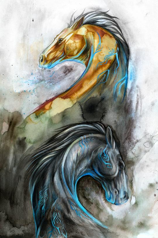 Shadow Horses by Exileden