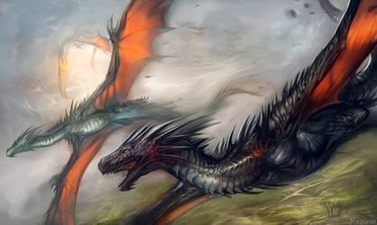Burning Sky Conflux by Exileden