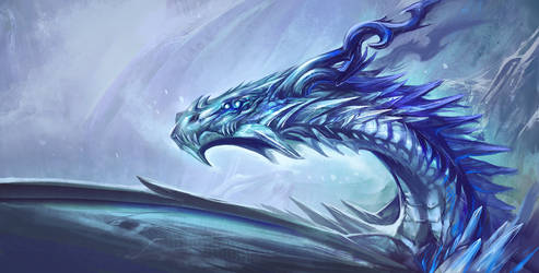 Ice Dragon - Game of Thrones by Exileden