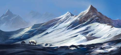 Scandinavian Mountains by Exileden