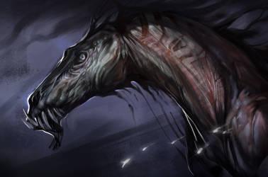Zombie Horse by Exileden