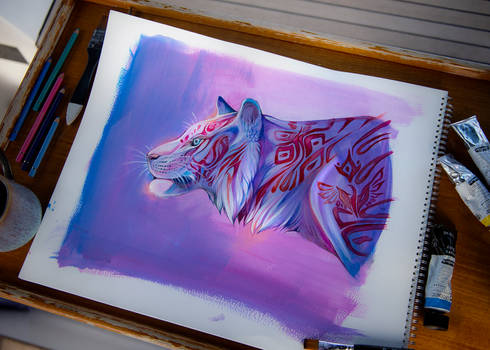 Totem White Tiger