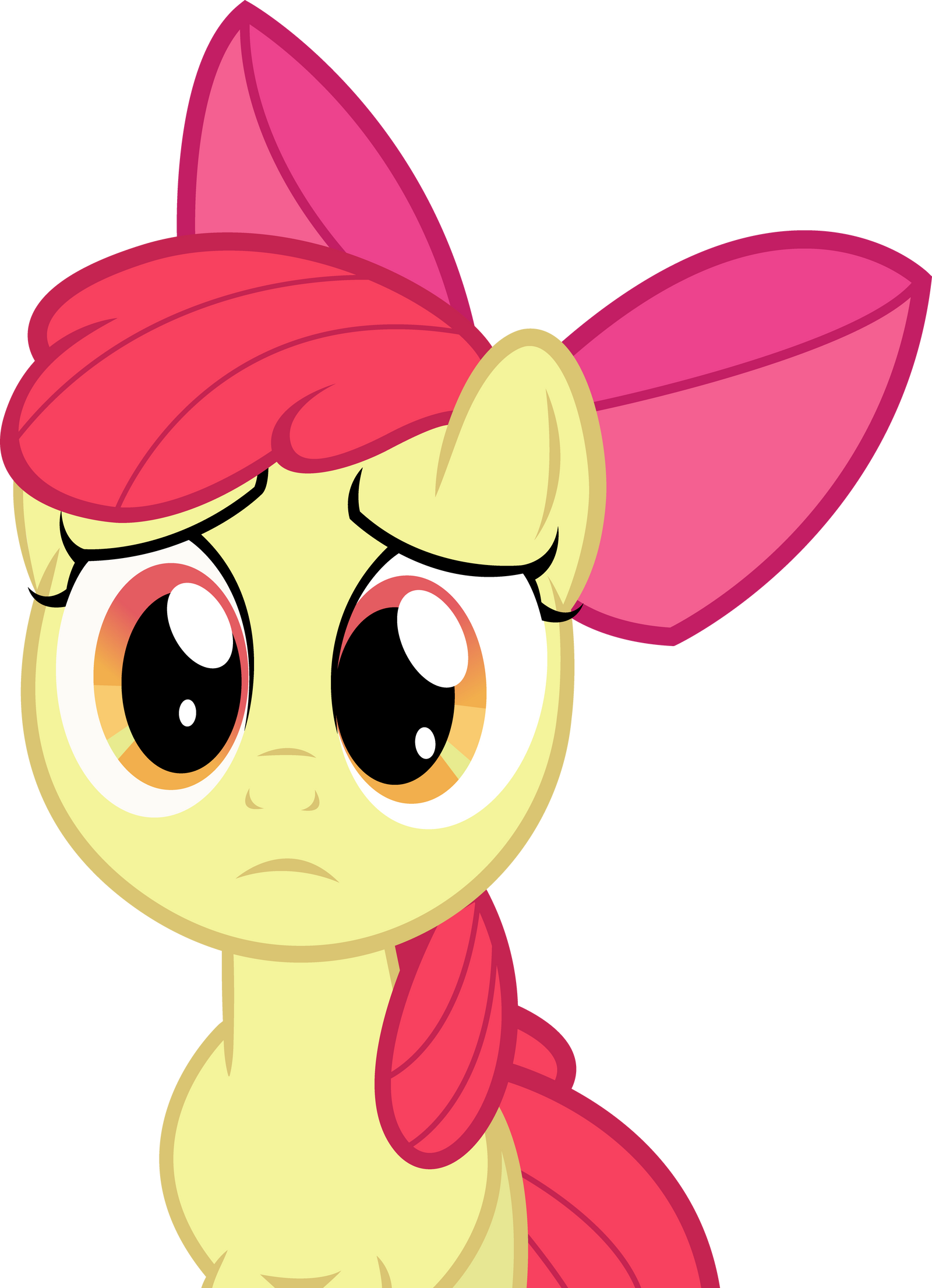 Sad Applebloom by The-Crusius