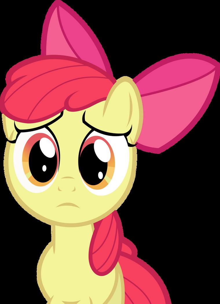 Sad Applebloom by The-Crusius