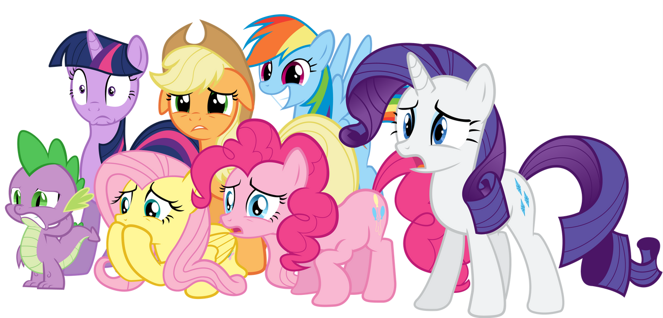 Spike And Mane Six Discover The Internet By The Crusius On DeviantArt