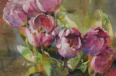 Tulips 2 by kalinatoneva