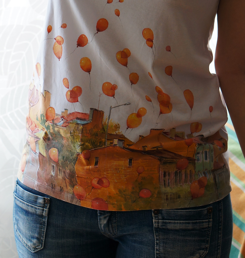 hand-painted t-shirts by kalinatoneva