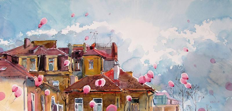 Balloons by kalinatoneva