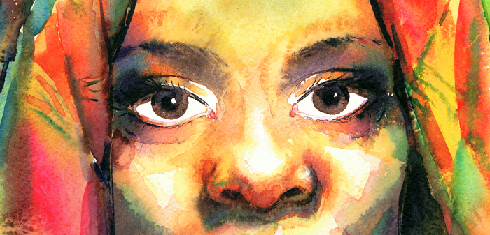 black woman detail by kalinatoneva