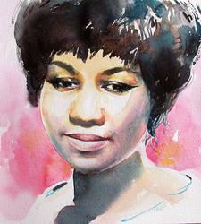 Aretha Franklin by kalinatoneva