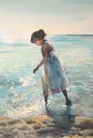 A walk in blue by kalinatoneva