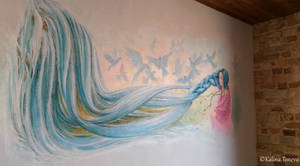 Fresco in a house by the sea