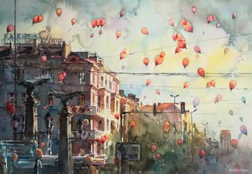 To the sky by kalinatoneva