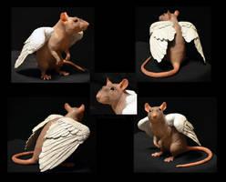 Kricket the Hairless Rat - Sculpture