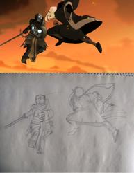 May 23 Wakfu ScreenCap Recreation Sketch by dracodarkarma