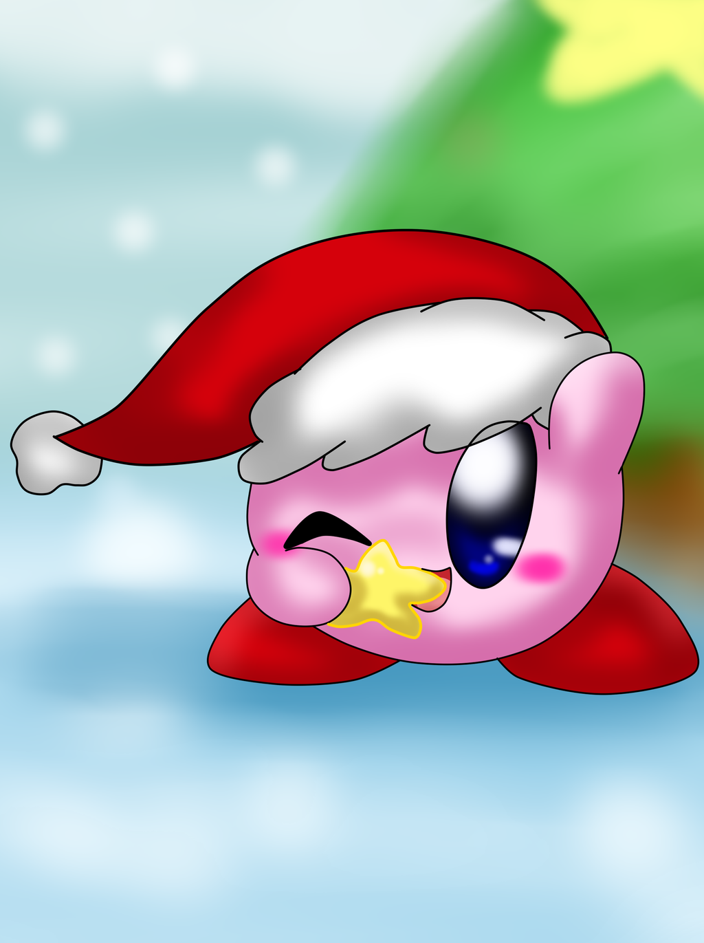 Christmas Kirby by SkyWarriorKirby
