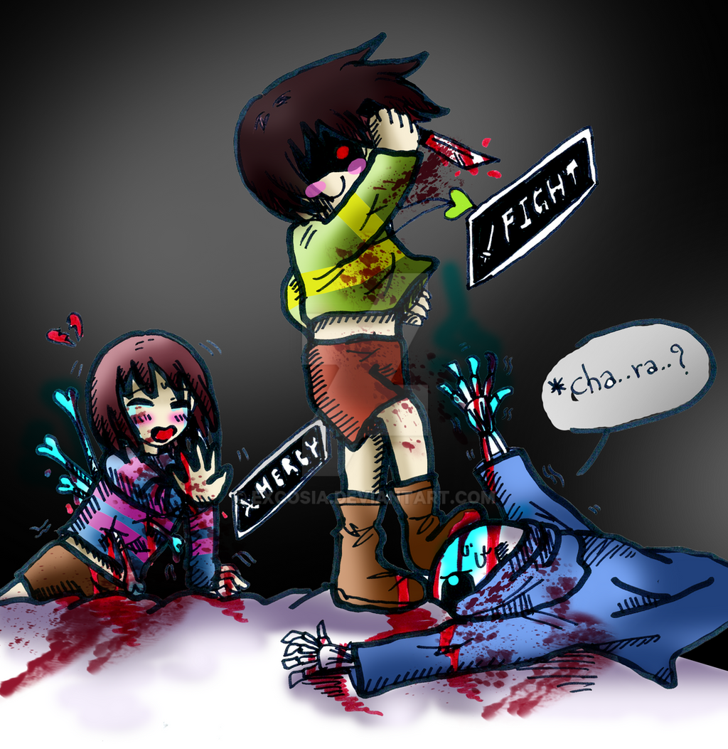 [Undertale] I Don't Like This Way Chara X Sans X By