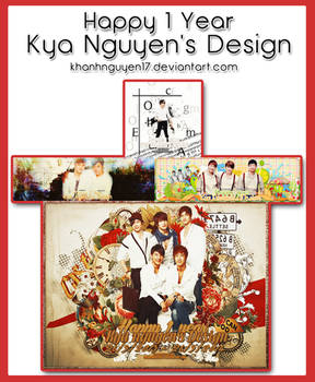 [PACK COVER] Happy 1 Year - Kya Nguyen's Design
