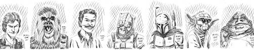 Daily Doodles Star Wars 2 by MichaelOdomArt
