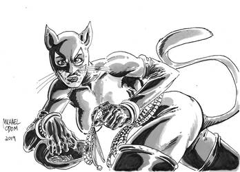 Catwoman by MichaelOdomArt