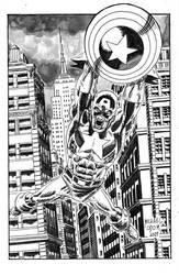 Captain America by MichaelOdomArt