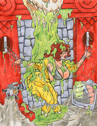 April O'Neil in the Slime Pit
