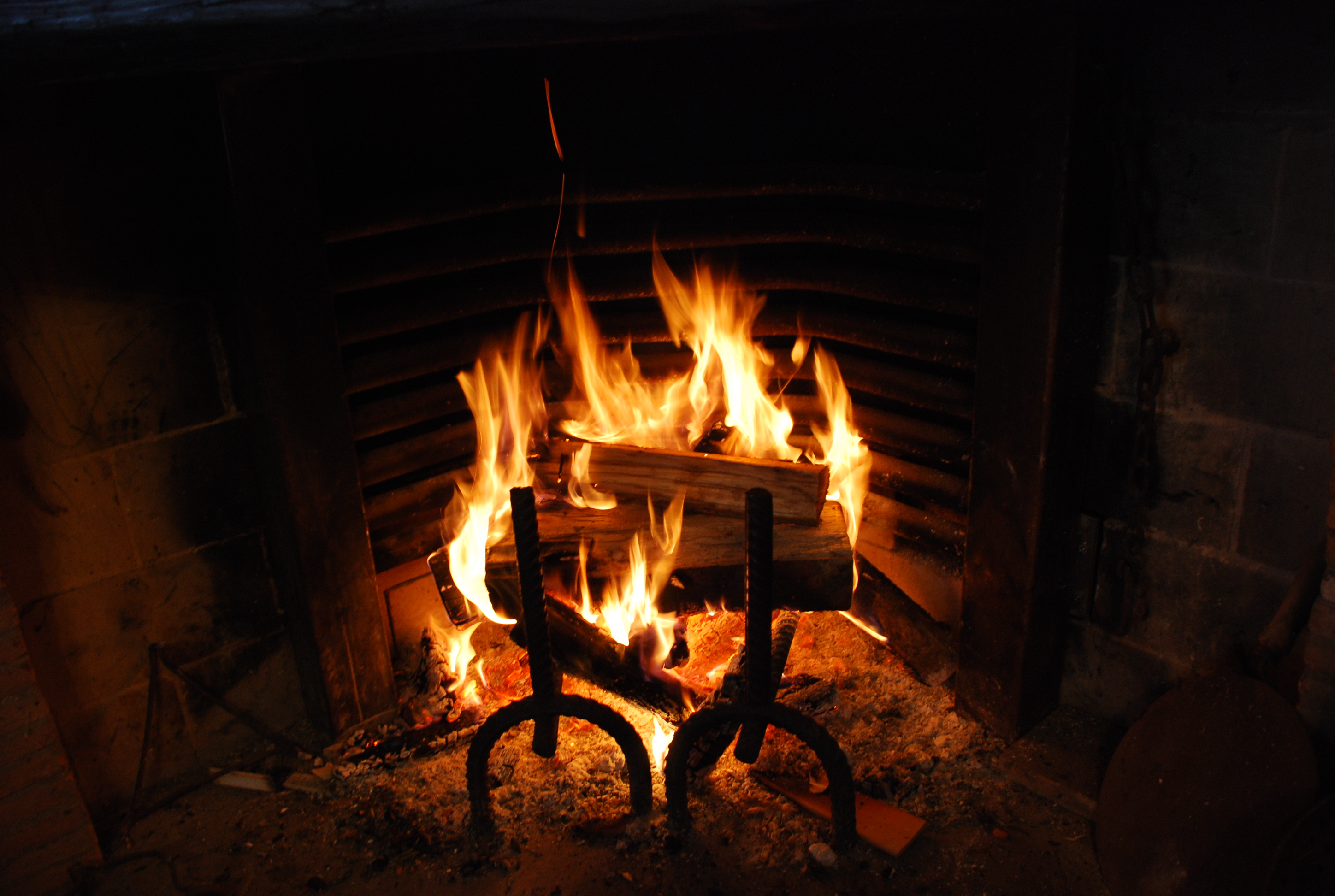 Fire In Fireplace By SilvieT