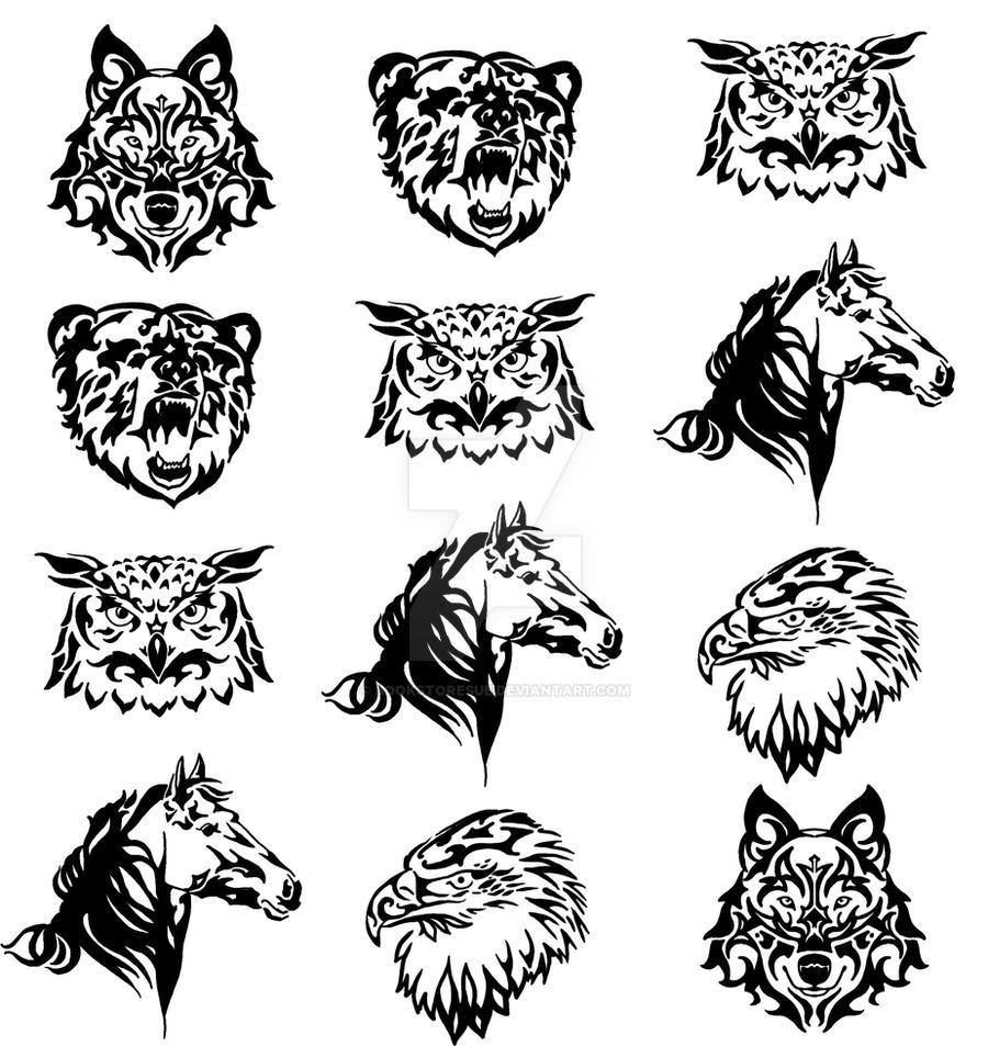 Wallpapers Tribal Animals Animal Tattoo 1024x1024: Tribal Animals By Bookstoresue On DeviantArt