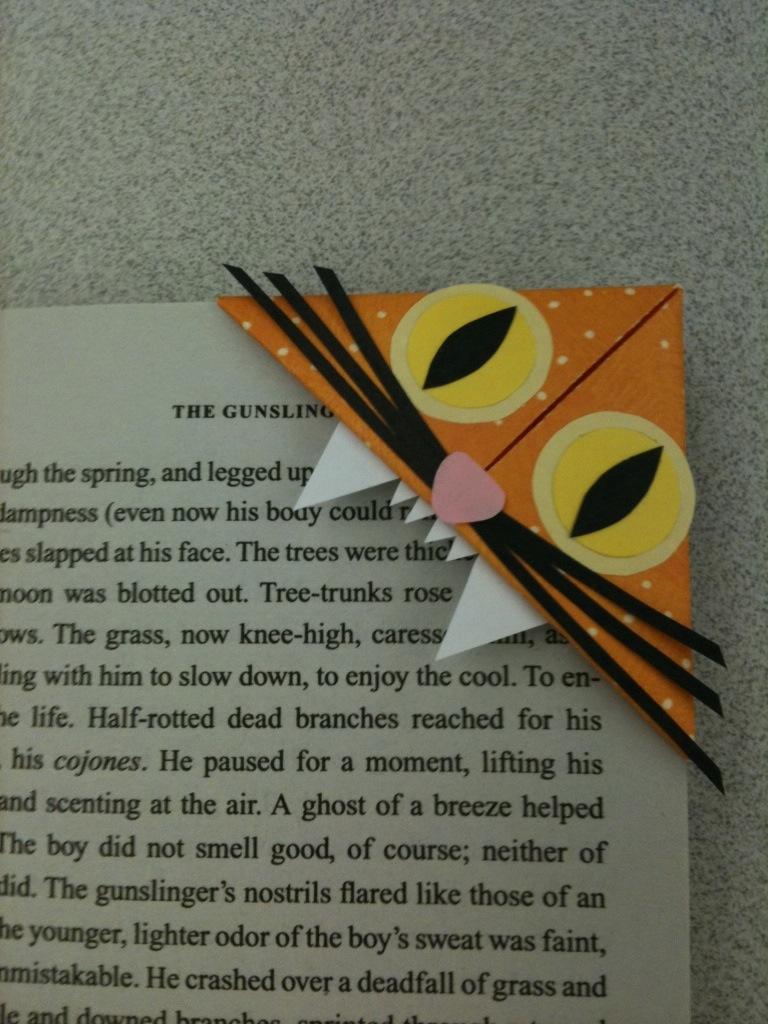Orange Cat Bookmark By Syncalvo