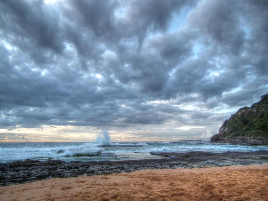 Overcast Beach Sunrise by BrendanR85 on DeviantArt