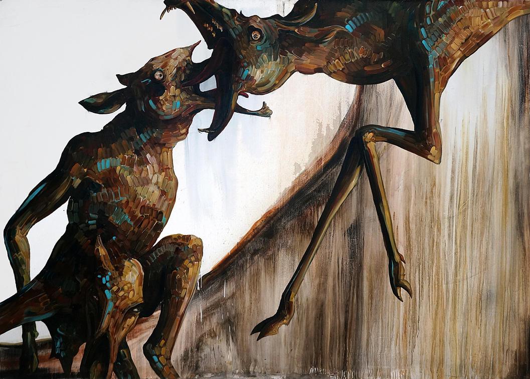 Baby Calf: The Mountain Part 2 5x7 by blackvragor