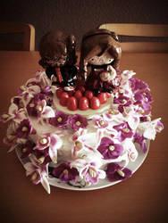 Flower cake by 3vil-Aru