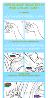 How to show variation in your lineart: part 1