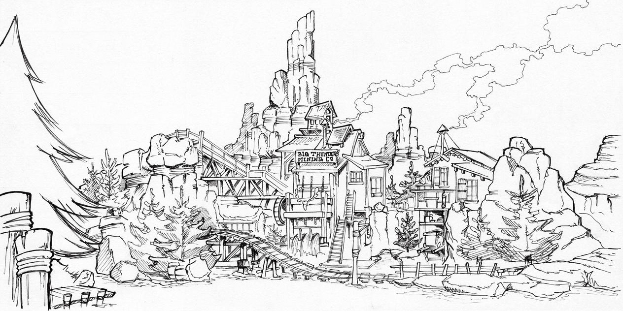 Big Thunder Mountain Railroad Coloring Pages