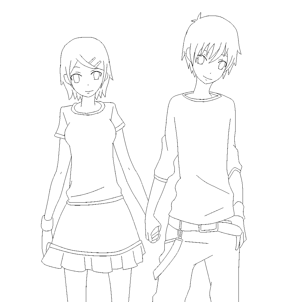 Line Art Couple : Couple png search results calendar
