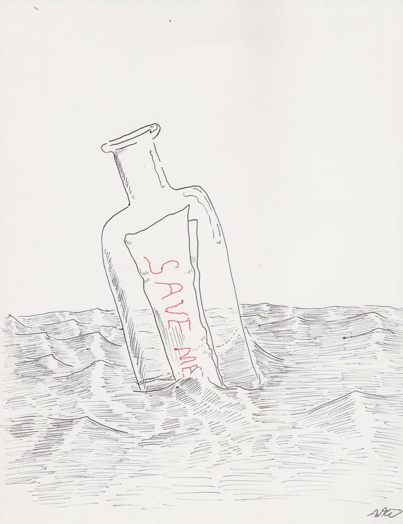Message in a Bottle by SpazzReflex